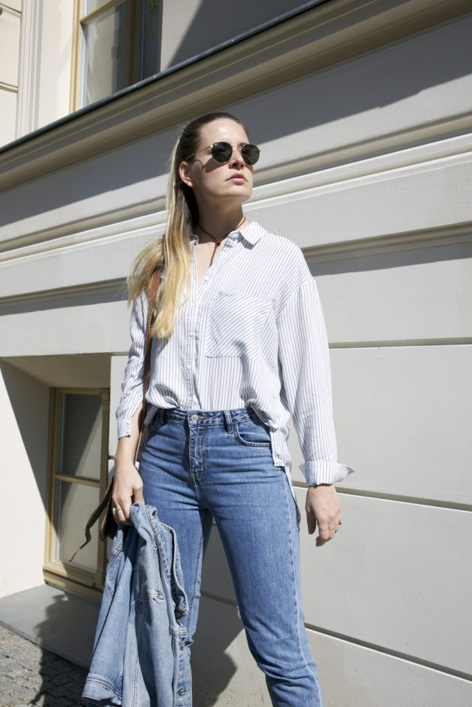 streetstyle-double-Denim-Halfbun-look